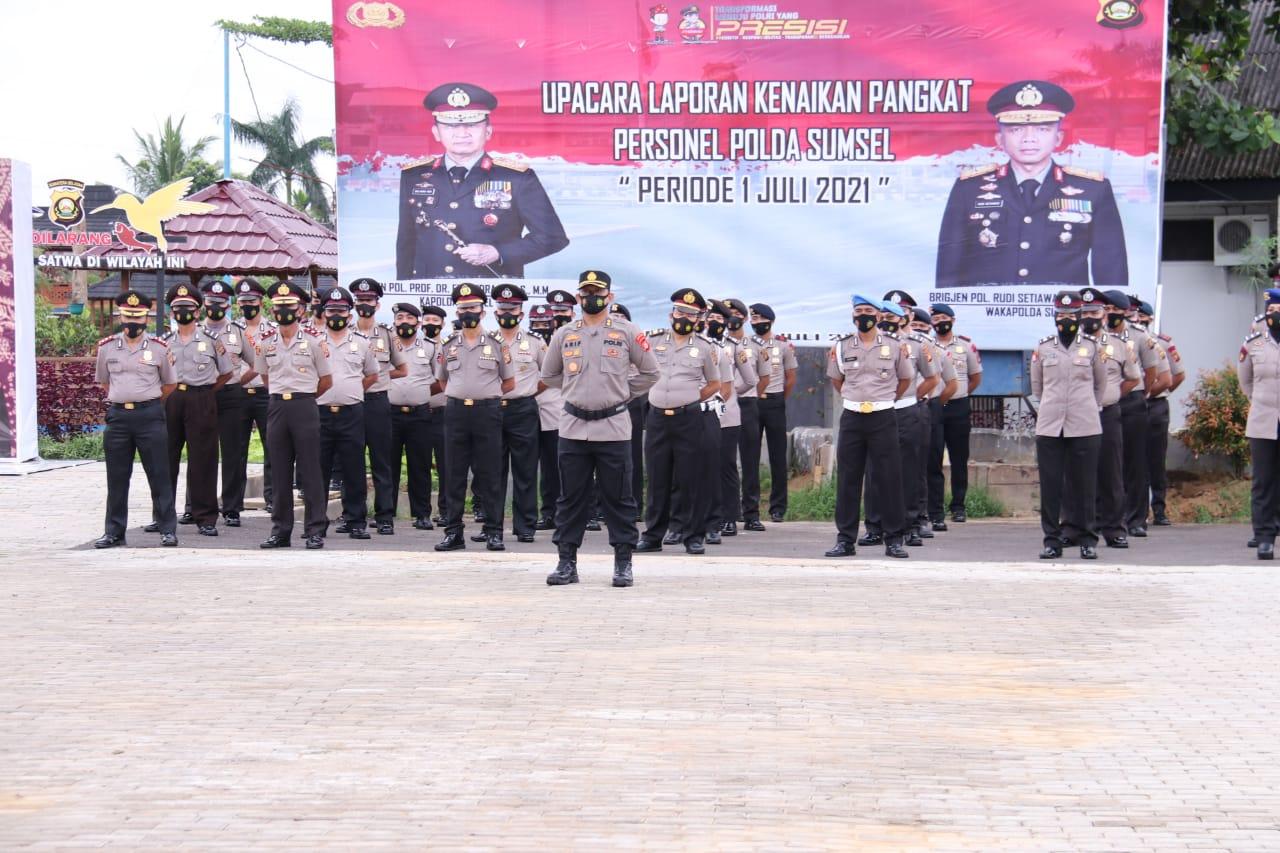 Kenaikkan Pangkat 1.000 Personel Polda Sumsel jajaran